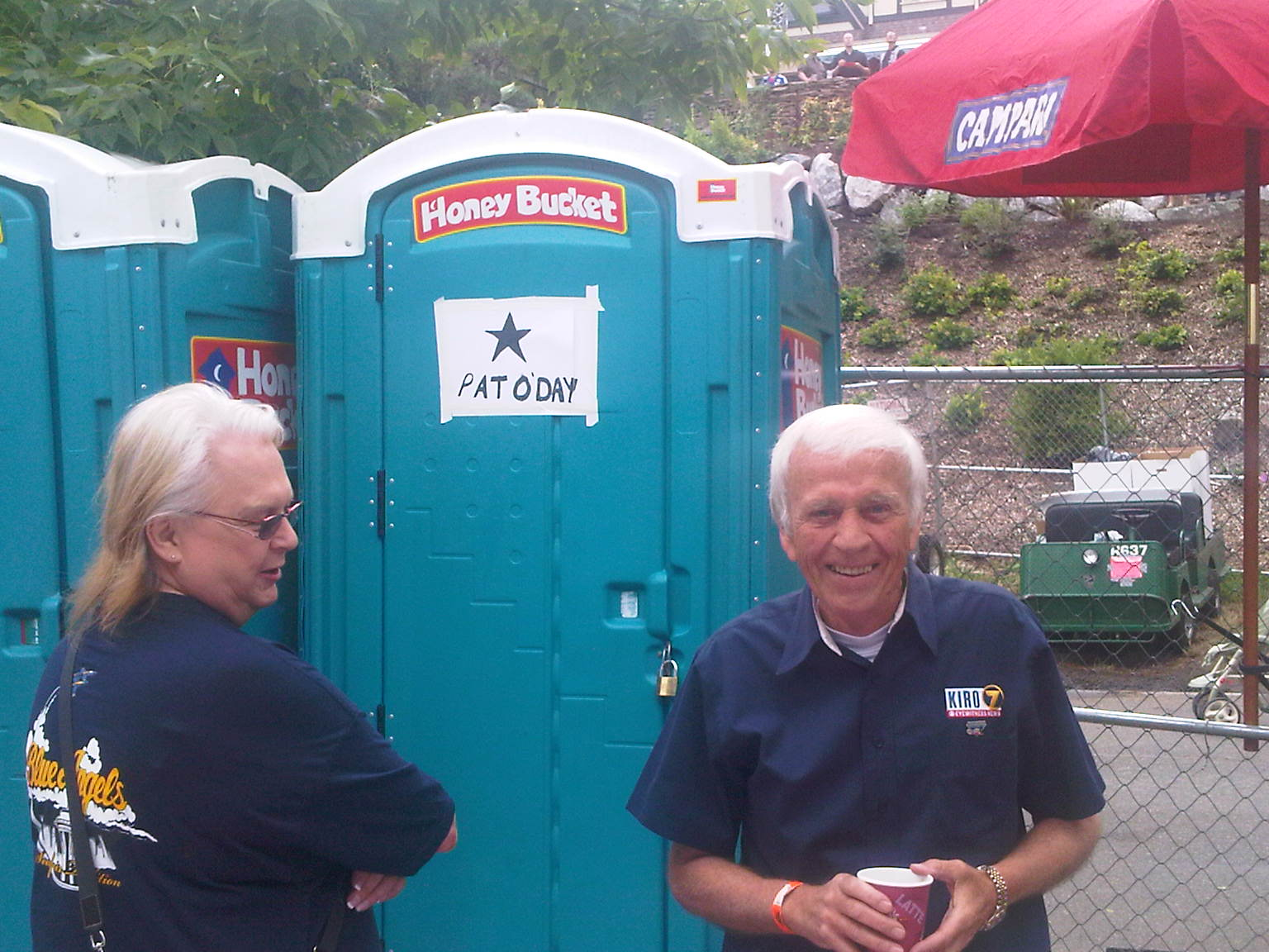 Is this the reason Pat O'Day has been removed from the KIRO TV team? His private port a potty costs too much?