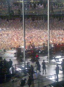 It's 2:00 a.m. in Chicago and the band is finishing a rain delayed show at Wrigley Field. I co-hosted a post concert show on Pearl Jam Radio. One of three times in my life I was on the air at 3:00 a.m.