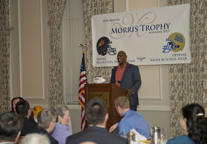 USC alum Roy Foster, who won the first two Morris Trophy Awards for offensive linemen, was the guest speaker at the 2014 lunch.