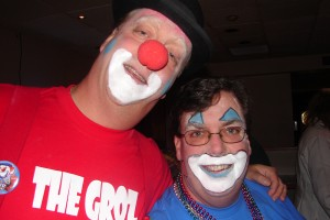 Dave Grozby and Mike Gastineau as honorary Seafair clowns