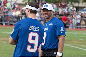 "Brees compares notes at the Pro Bowl with another quarterback who is ""too small to play."""