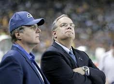 Seahawks owner Paul Allen with Tim Ruskell. (Seattle Times photo)